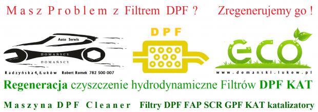 Regeneracja czyszczenie hydrodynamiczne Filtrów DPF KAT DPF Cleaner Maszyna Domański Serwis Łuków